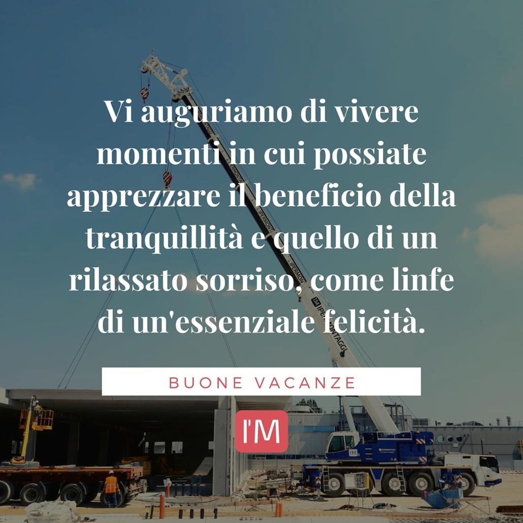 Buone vacanze da Ipermontaggi - Montaggio prefabbricati Treviso