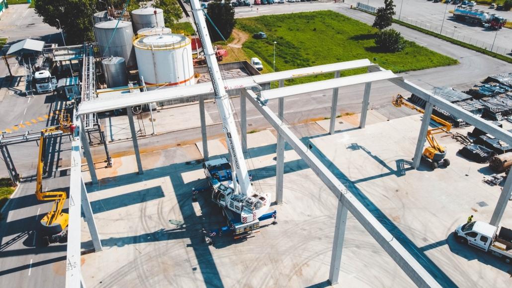 Marchi Industriale SpA - Montaggio nuovo deposito prefabbricato