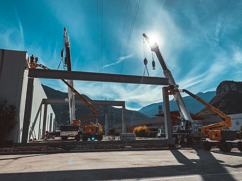 Arcese Trasporti SpA - Arco TN - Montaggio prefabbricati